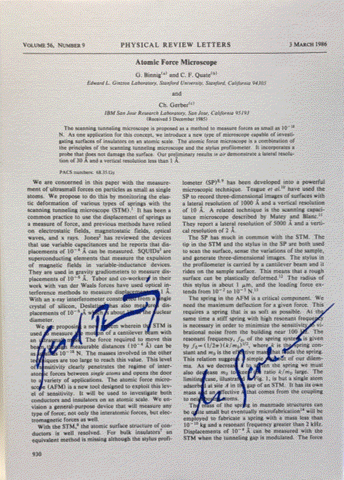 Signed and framed copy of the first AFM publication