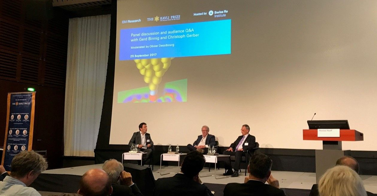 Panel discussion with Gerd Binnig and Christoph Gerber