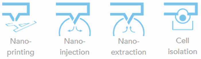 AFM applications - nanoprinting, nanoinjection, nanoextraction, cell isolation