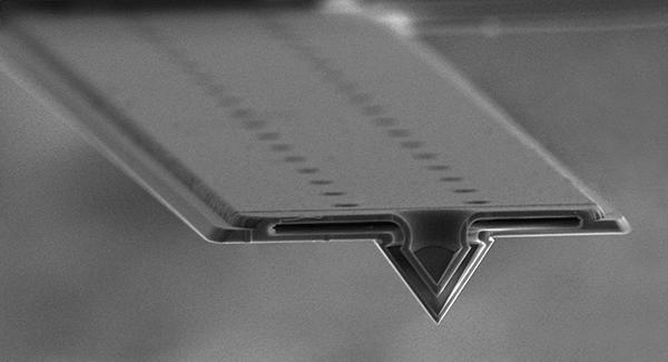 Cross section of a FluidFM probe