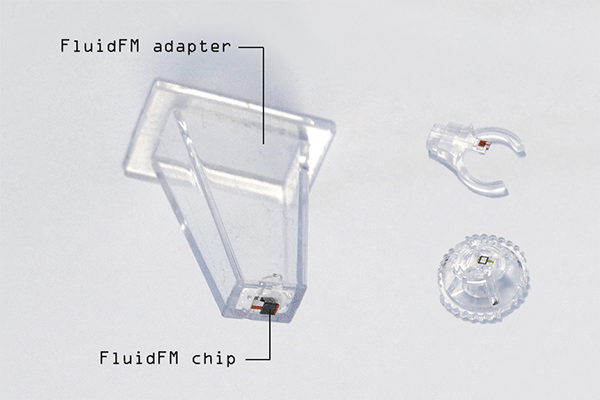FluidFM probe with different adapters