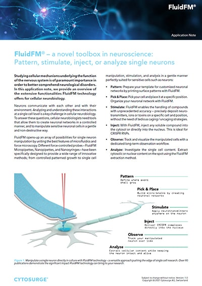 FluidFM Neuroscience - Application Note preview 1